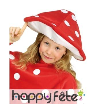Chapeau champignon rouge pour enfant