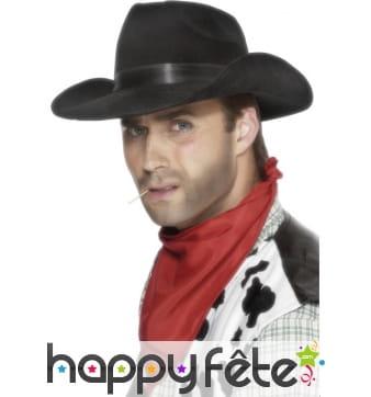 Chapeau cowboy ruban noir