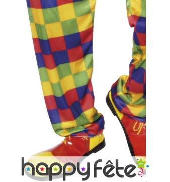 Chaussures clown rouge jaune