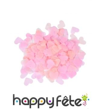Confettis coeurs roses en papier, 20gr