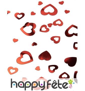 Confettis coeurs rouges vides