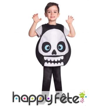 Costume crâne rigolot pour enfant