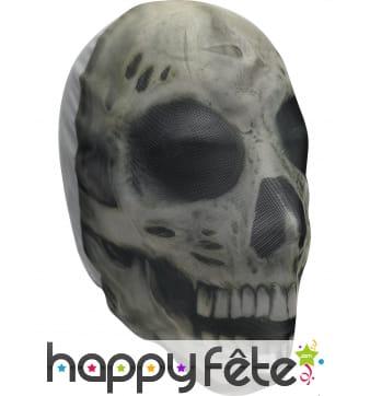 Cagoule crâne squelette pour adulte