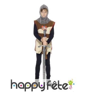 Costume chevalier - tunique et cagoule