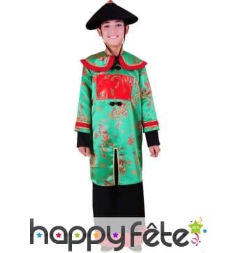 Costume chinois vert pour garçon