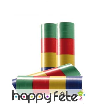 Carton de 100 x 20 serpentins multicolores