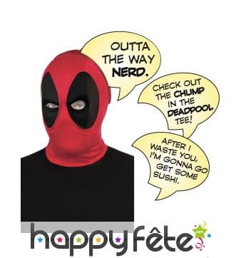 Cagoule Deadpool avec bulles de BD