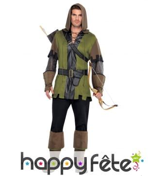 Costume d'archer à capuche pour homme