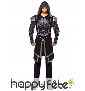 Costume d'assassin noir taille adulte
