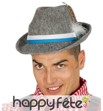 Chapeau de bavarois gris