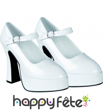 Chaussures disco blanches