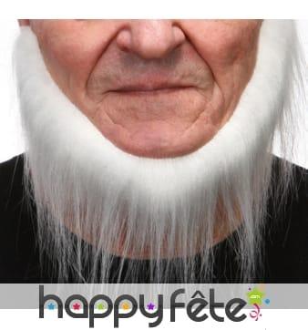 Collier de barbe blanc