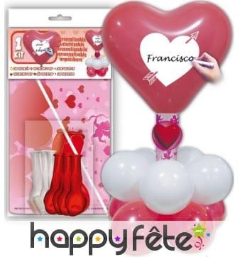 Composition de ballons Saint valentin