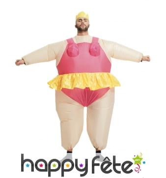 Costume de ballerine gonflable pour adulte