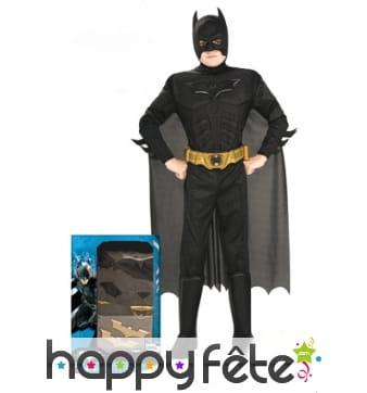 Costume de Batman musclé rembourré pour enfant