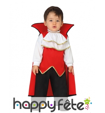 Costume de bébé comte dracula