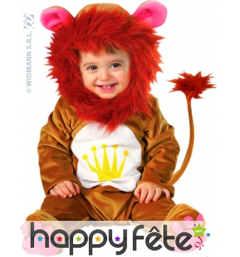 Costume de bébé lion