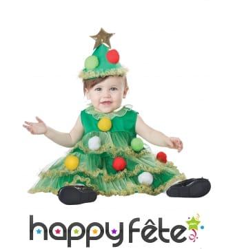 Costume de bébé sapin de Noel