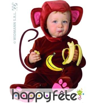Costume de bébé singe