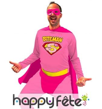 Costume de Biteman rose pour homme
