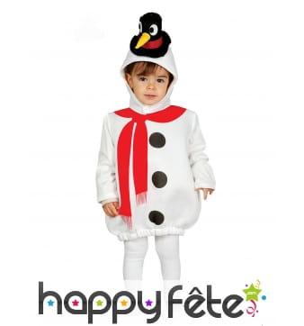 Costume de bonhomme de neige pingouin pour bébé