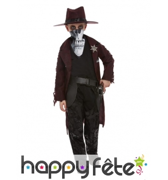 Costume de braqueur de banque western pour garçon