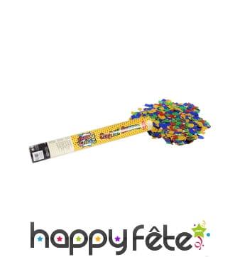 Canon de confettis colorés Happy Birthday