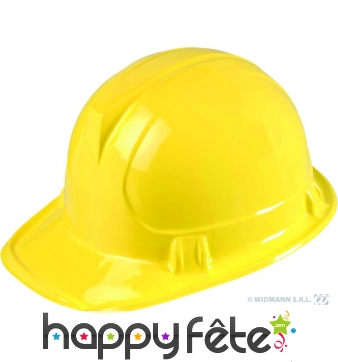 Casque de chantier en plastique jaune