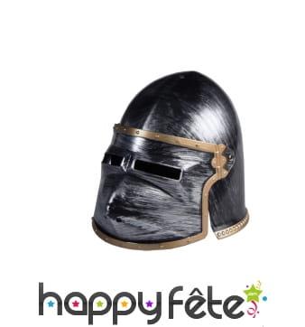 Casque de chevalier, visière amovible