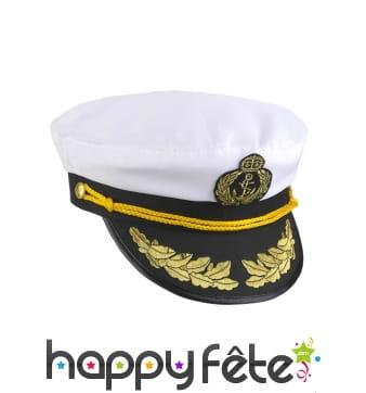 Casquette de capitaine de navire pour adulte