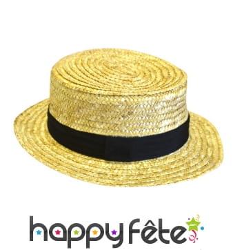Chapeau de Canotier luxe adulte