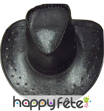 Chapeau de cow boy croco noir