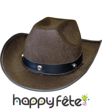 Chapeau de cow-boy marron