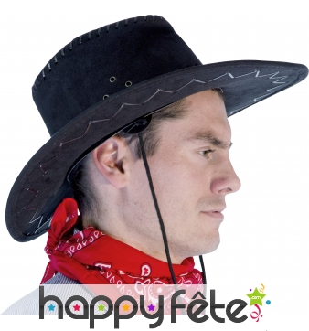 Chapeau de cow-boy noir adulte texas