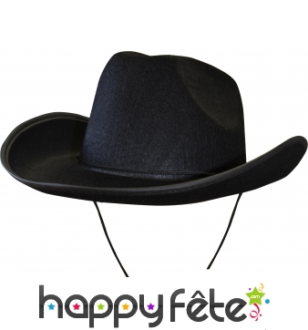 Chapeau de cow-boy noir adulte