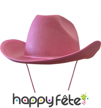 Chapeau de cow-boy rose adulte