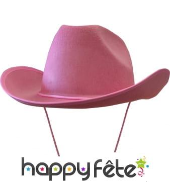 Chapeau de cow-boy rose adulte