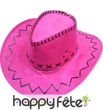 Chapeau de cow-boy rose