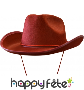 Chapeau de cow-boy rouge adulte