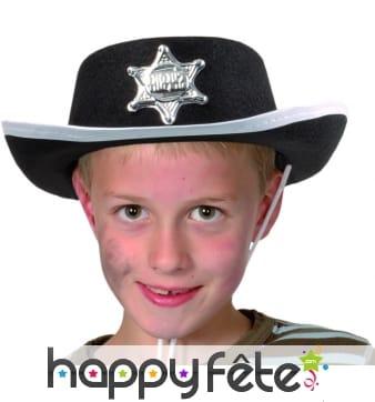 Chapeau de cow-boy sheriff enfant éco