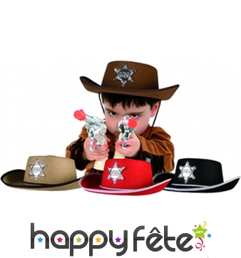 Chapeau de cow-boy sheriff enfant
