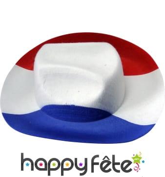Chapeau de cow-boy tricolore
