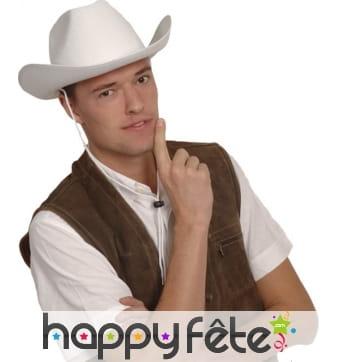 Chapeau de cowboy blanc uni