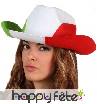 Chapeau de cowboy drapeau d'Italie
