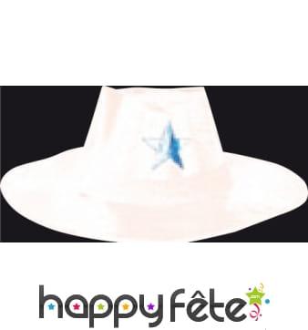 Chapeau de cowboy en carton blanc
