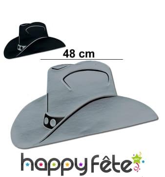 Chapeau de cowboy en carton plat
