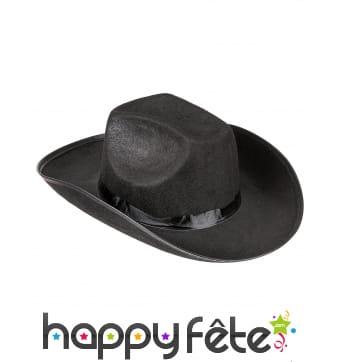 Chapeau de cowboy en feutrine noire