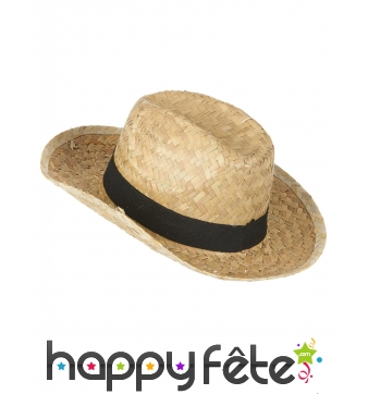 Chapeau de cowboy en paille taille enfant