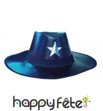 Chapeau de cowboy noir en carton