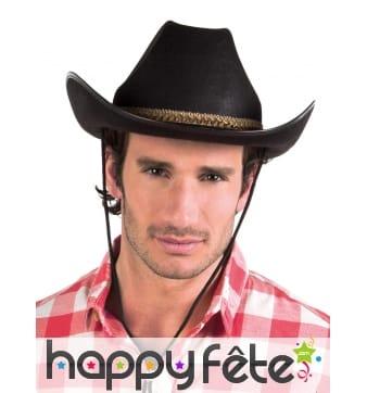 Chapeau de cowboy ruban tressé ocre